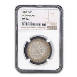 1892 Columbian Expo Half Dollar MS-66 NGC