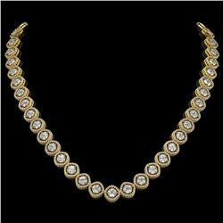93.04 ctw Morganite & Diamond Necklace 14K Yellow Gold