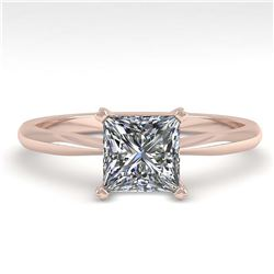 2.50 ctw Intense Blue Diamond Ring 10K White Gold