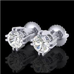 2 ctw SI/I Fancy Intense Yellow Diamond Halo Ring 10K White Gold
