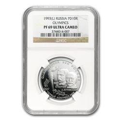 1993 Russia 1/2 oz Palladium Olympic 10 Rouble PF-69 NGC