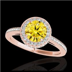 2 ctw SI Blue Diamond Solitaire Halo Ring 10K White Gold