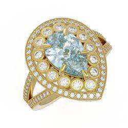 1.85 ctw SI Diamond Halo Necklace 14K White Gold