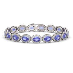 3 ctw VS/SI Diamond Solitaire Art Deco 3 Stone Ring 18K White Gold