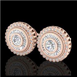 4.3 ctw Morganite & Diamond Earrings 14K Yellow Gold