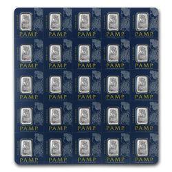 25x1 gram Platinum Bar PAMP Suisse Multigram+25 (In Assay)