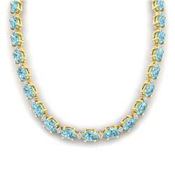 16.59 ctw Sky Topaz & Diamond Halo Bracelet 10K Rose Gold