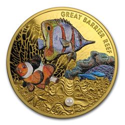 2020 Niue 1 oz Proof Gold Australian Great Barrier Reef Pearl