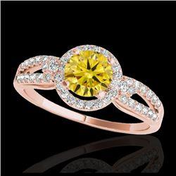2 ctw Emerald & VS/SI Diamond Ring Halo 18K White Gold
