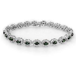 30.05 ctw Emerald & Diamond Bracelet 14K Yellow Gold