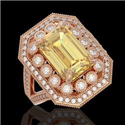 1.75 ctw VS/SI Diamond Art Deco Stud Necklace 18K Yellow Gold