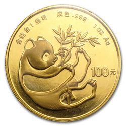 1984 China 1 oz Gold Panda BU (Sealed)