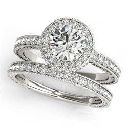 2.8 ctw VS/SI Diamond Solitaire Art Deco Ring 18K White Gold