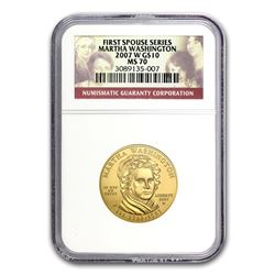 2007-W 1/2 oz Gold Martha Washington MS-70 NGC