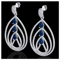 3.53 ctw Princess VS/SI Diamond 3 Stone Ring 18K White Gold