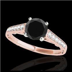 0.50 ctw VS/SI Diamond & Pearl Earrings 14K Rose Gold