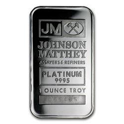 1 oz Platinum Bar - Johnson Matthey