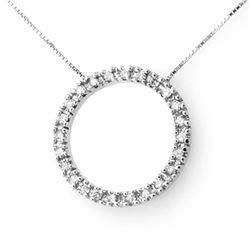0.50 ctw VS/SI Cushion Diamond Necklace 18K Rose Gold