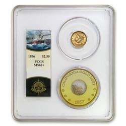 1856 $2.50 Lib Gold SS Central America MS-62+ PCGS (Ship of Gold)