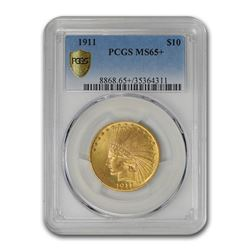 1911 $10 Indian Gold Eagle MS-65+ PCGS