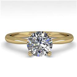 2.03 ctw VS/SI Diamond Solitaire Art Deco Ring 18K Yellow Gold
