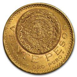 1921/11 Mexico Gold 20 Pesos BU
