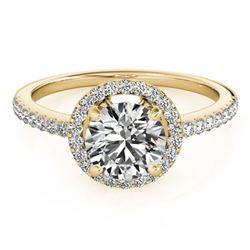 0.73 ctw Intense Blue Diamond Ring 10K White Gold