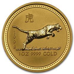 1998 Australia 1 oz Gold Lunar Tiger BU (Series I)