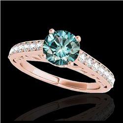 1.91 ctw Fancy Black Diamond Art Deco Ring 18K White Gold