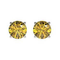 1.29 ctw Intense Blue Diamond Ring 10K Rose Gold