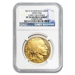 2013-W 1 oz Proof Gold Buffalo PF-70 NGC (ER)