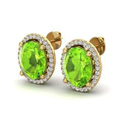 2.50 ctw Amethyst And VS/SI Diamond Ring 18K Yellow Gold