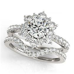 31.0 ctw Blue Sapphire & Diamond Necklace 14K White Gold