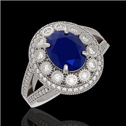 1.75 ctw SI Blue Diamond Solitaire Ring 10K White Gold