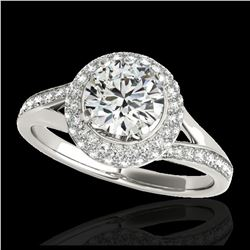 2.02 ctw Sky Blue Topaz & VS/SI Diamond Ring 18K White Gold