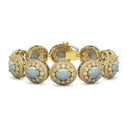 7.87 ctw Canary Citrine & Diamond Ring 14K White Gold