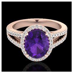 1.10 ctw Intense Fancy Yellow Diamond Art Deco Ring 18K Rose Gold