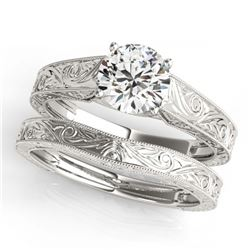 1.50 ctw VS/SI Diamond Art Deco Ring 14K Yellow Gold