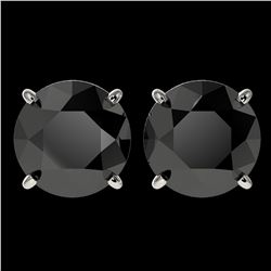 1.30 ctw SI/I Fancy Intense Yellow Diamond Ring 10K White Gold