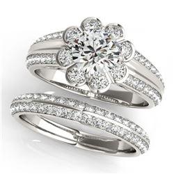 45.93 ctw Sapphire & Diamond Halo Necklace 10K Yellow Gold