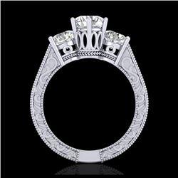 5.50 ctw Morganite & VS/SI Diamond Earrings 14K Rose Gold