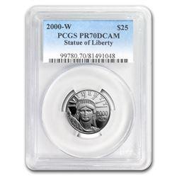 2000-W 1/4 oz Proof Platinum American Eagle PR-70 PCGS