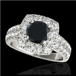 1.36 ctw Fancy Intense Blue Diamond Art Deco Ring 18K Rose Gold