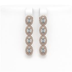 3.51 ctw Yellow Sapphire & Diamond Bracelet 18K White Gold