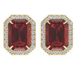 3.75 ctw Amethyst & VS/SI Diamond Ring 14K Rose Gold
