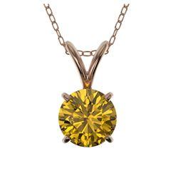 1.15 ctw VS/SI Diamond Art Deco Stud Necklace 14K Rose Gold