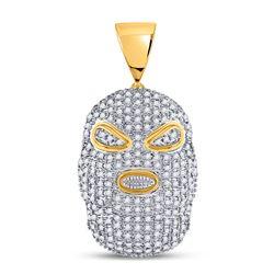 10kt Yellow Gold Round Diamond Infinity Dangle Earrings 1/10 Cttw