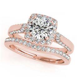 1.46 ctw VS/SI Diamond 2pc Wedding Set 14K White Gold