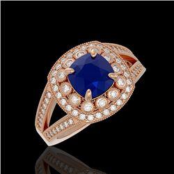 1.40 ctw SI/I Fancy Intense Yellow Diamond Ring 10K Rose Gold