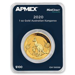 2020 Australia 1 oz Gold Kangaroo (MintDirect® Premier Single)